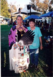 My mother and I at SCIC powwow, circa 2007.